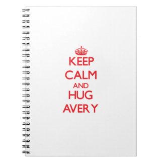 Keep calm and Hug Avery Note Book