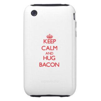 Keep calm and Hug Bacon Tough iPhone 3 Cover