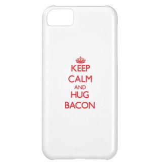 Keep calm and Hug Bacon iPhone 5C Cases
