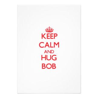 Keep Calm and HUG Bob Personalized Invitations