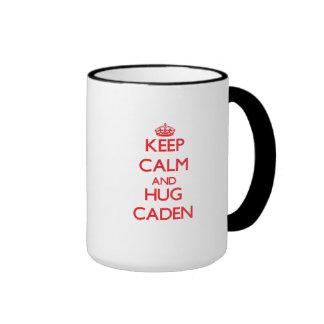 Keep Calm and HUG Caden Ringer Mug