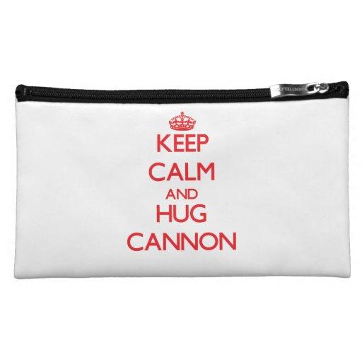 Keep Calm and HUG Cannon Makeup Bag