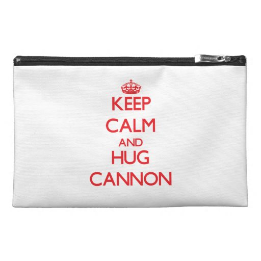 Keep calm and Hug Cannon Travel Accessories Bag