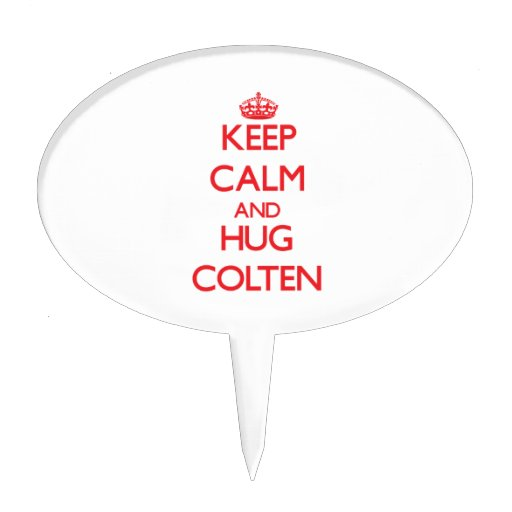 Keep Calm and HUG Colten Cake Toppers