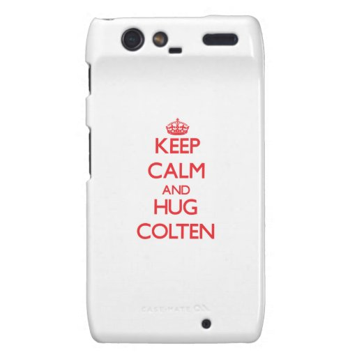 Keep Calm and HUG Colten Motorola Droid RAZR Cases