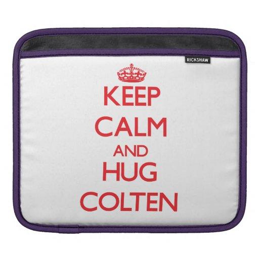 Keep Calm and HUG Colten iPad Sleeves
