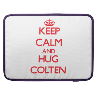 Keep Calm and HUG Colten Sleeve For MacBooks
