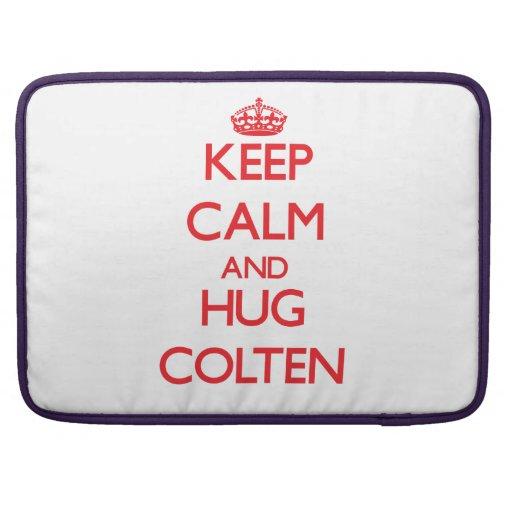 Keep Calm and HUG Colten Sleeve For MacBooks