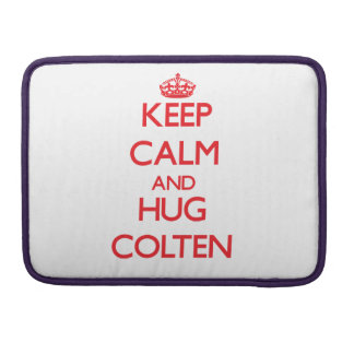 Keep Calm and HUG Colten MacBook Pro Sleeve