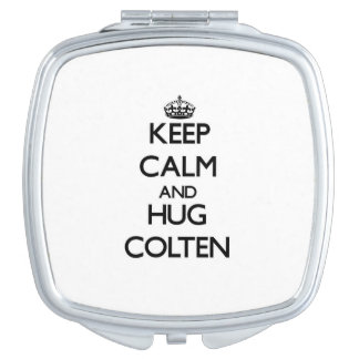 Keep Calm and Hug Colten Compact Mirror