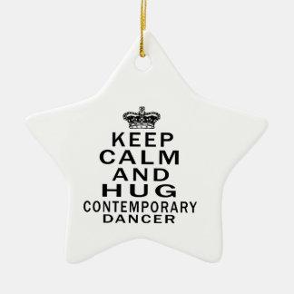 Keep calm and hug Contemporary dance Ceramic Star Decoration