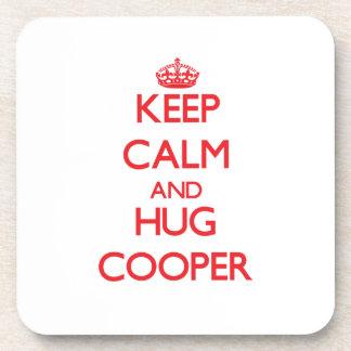 Keep calm and Hug Cooper Coasters