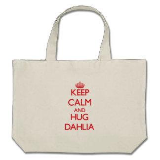 Keep Calm and Hug Dahlia Tote Bags