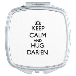 Keep Calm and Hug Darien Makeup Mirror