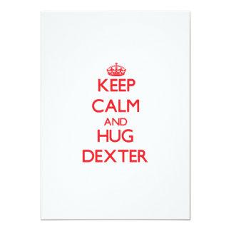 Keep Calm and HUG Dexter Invites