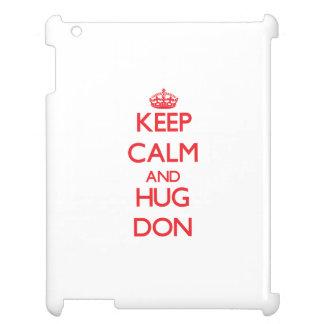 Keep Calm and HUG Don Case For The iPad 2 3 4
