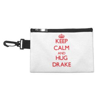 Keep Calm and HUG Drake Accessory Bags