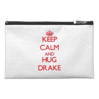 Keep calm and Hug Drake Travel Accessory Bag