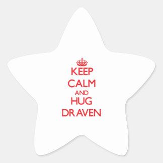 Keep Calm and HUG Draven Star Sticker