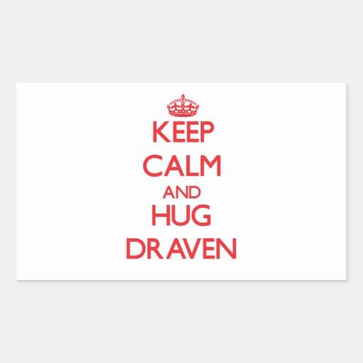 Keep Calm and HUG Draven Rectangle Stickers