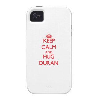 Keep calm and Hug Duran Vibe iPhone 4 Cases
