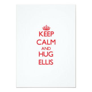 Keep calm and Hug Ellis 13 Cm X 18 Cm Invitation Card