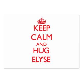 Keep Calm and Hug Elyse Pack Of Chubby Business Cards
