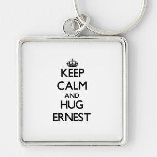 Keep Calm and Hug Ernest Key Chain
