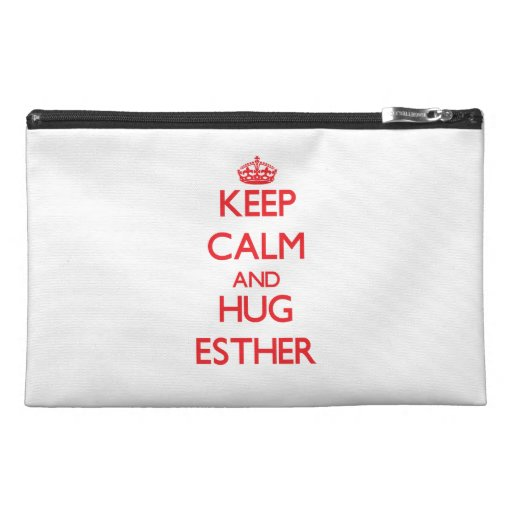 Keep Calm and Hug Esther Travel Accessories Bags