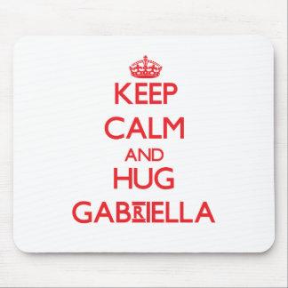 Keep Calm and Hug Gabriella Mousepad