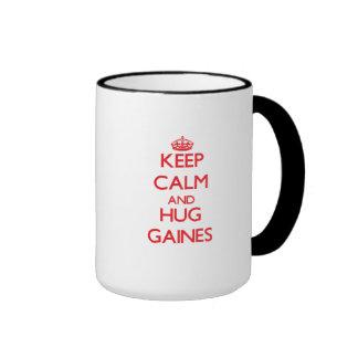 Keep calm and Hug Gaines Coffee Mugs