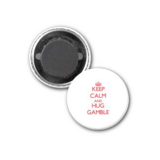 Keep calm and Hug Gamble Magnets