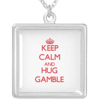 Keep calm and Hug Gamble Pendant