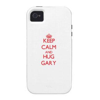 Keep Calm and HUG Gary Vibe iPhone 4 Covers
