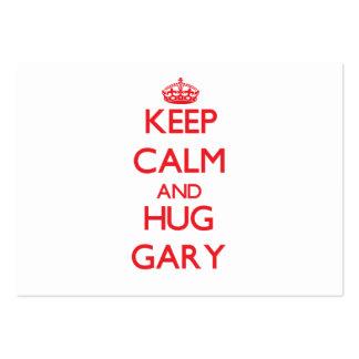Keep Calm and HUG Gary Pack Of Chubby Business Cards