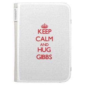 Keep calm and Hug Gibbs Kindle Keyboard Covers