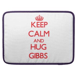 Keep calm and Hug Gibbs MacBook Pro Sleeves