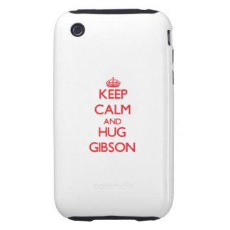 Keep calm and Hug Gibson iPhone 3 Tough Cases