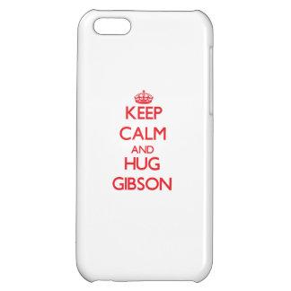 Keep calm and Hug Gibson iPhone 5C Cover