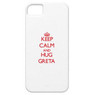 Keep Calm and Hug Greta iPhone 5 Covers
