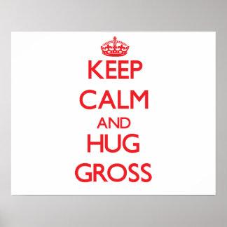 Keep calm and Hug Gross Print