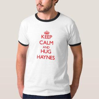 Keep calm and Hug Haynes T Shirts