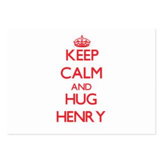 Keep Calm and HUG Henry Business Card