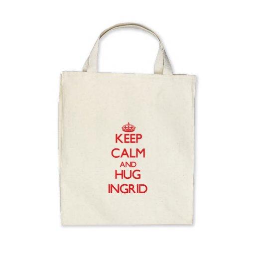 Keep Calm and Hug Ingrid Canvas Bag