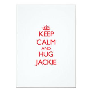 Keep Calm and HUG Jackie Custom Invitation