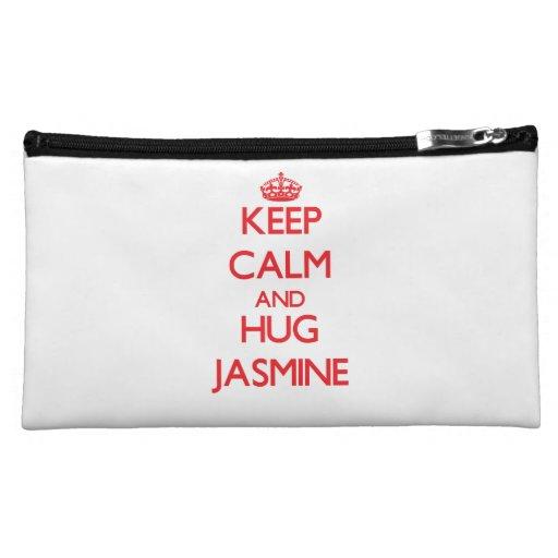 Keep Calm and Hug Jasmine Makeup Bag