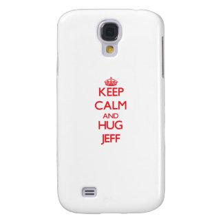 Keep Calm and HUG Jeff Galaxy S4 Cases