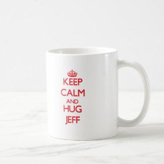 Keep Calm and HUG Jeff Coffee Mug