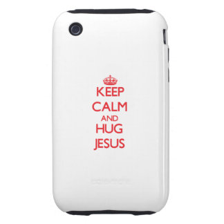 Keep Calm and HUG Jesus iPhone 3 Tough Cover