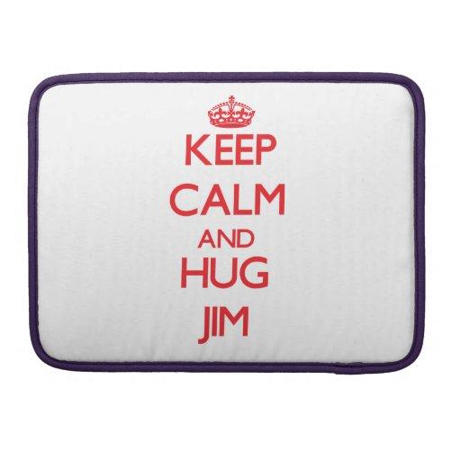 Keep Calm and HUG Jim Sleeves For MacBooks
